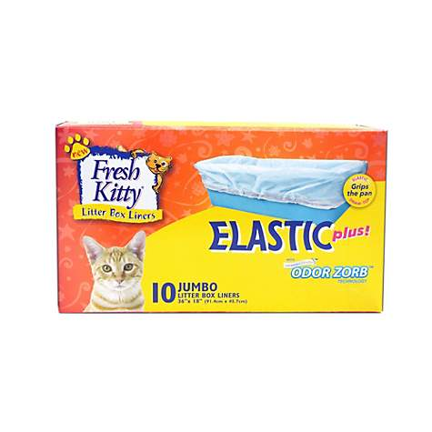 Fresh Kitty Jumbo Elastic Litter Box Liners