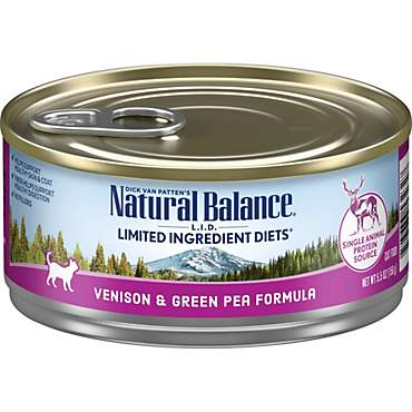 Natural Balance L.I.D. Limited Ingredient Diets Venison & Green Pea Wet Cat Food