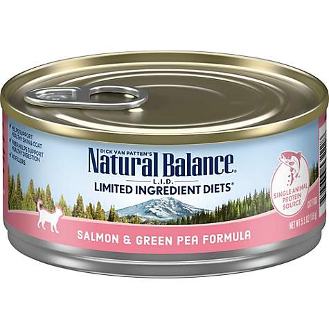 Natural Balance L.I.D. Limited Ingredient Diets Salmon & Green Pea Wet Cat Food