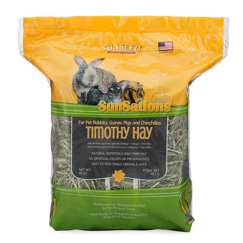 Sun Seed Sunsations Small Animal Timothy Hay 16 Oz.