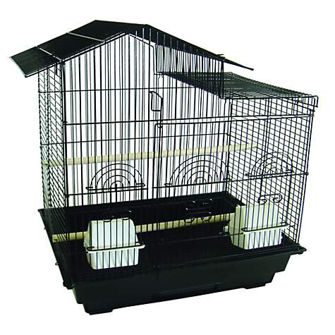 YML Villa Black Top Bird Cage