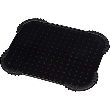 Harmony Black Skid Stop Dog Placemat, 18