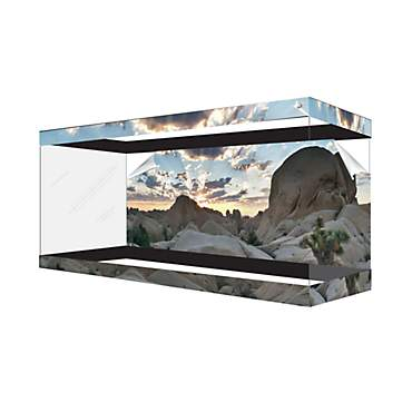 Habitat Wraps Desert Canyon Cloud Reusable Glass Tank Background