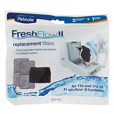 Petmate Fresh Flow II Purifying Pet Fountain Replacement Filters