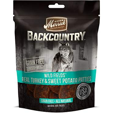 Merrick Backcountry Wild Prairie Real Turkey & Sweet Potato Patties Grain Free Dog Treats