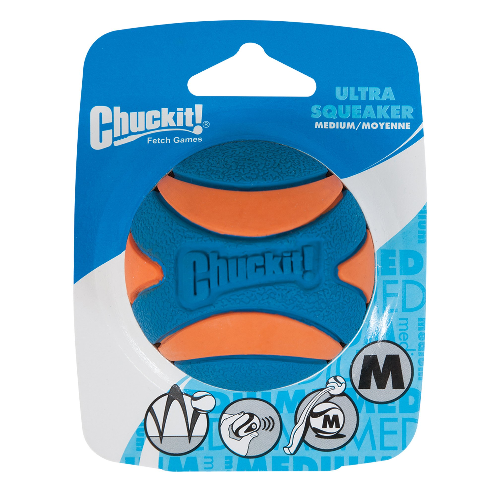 Chuckit Medium Squeaker Ball Dog Toy Petco
