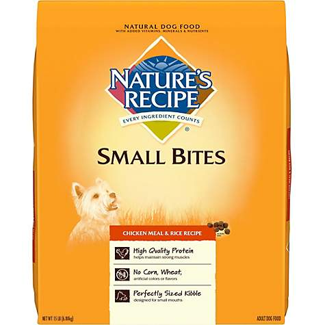 Natures recipe small bites chicken meal rice dog food petco forumfinder Choice Image
