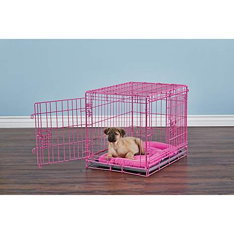 You & Me 2-Door Dog Training Crate, Pink