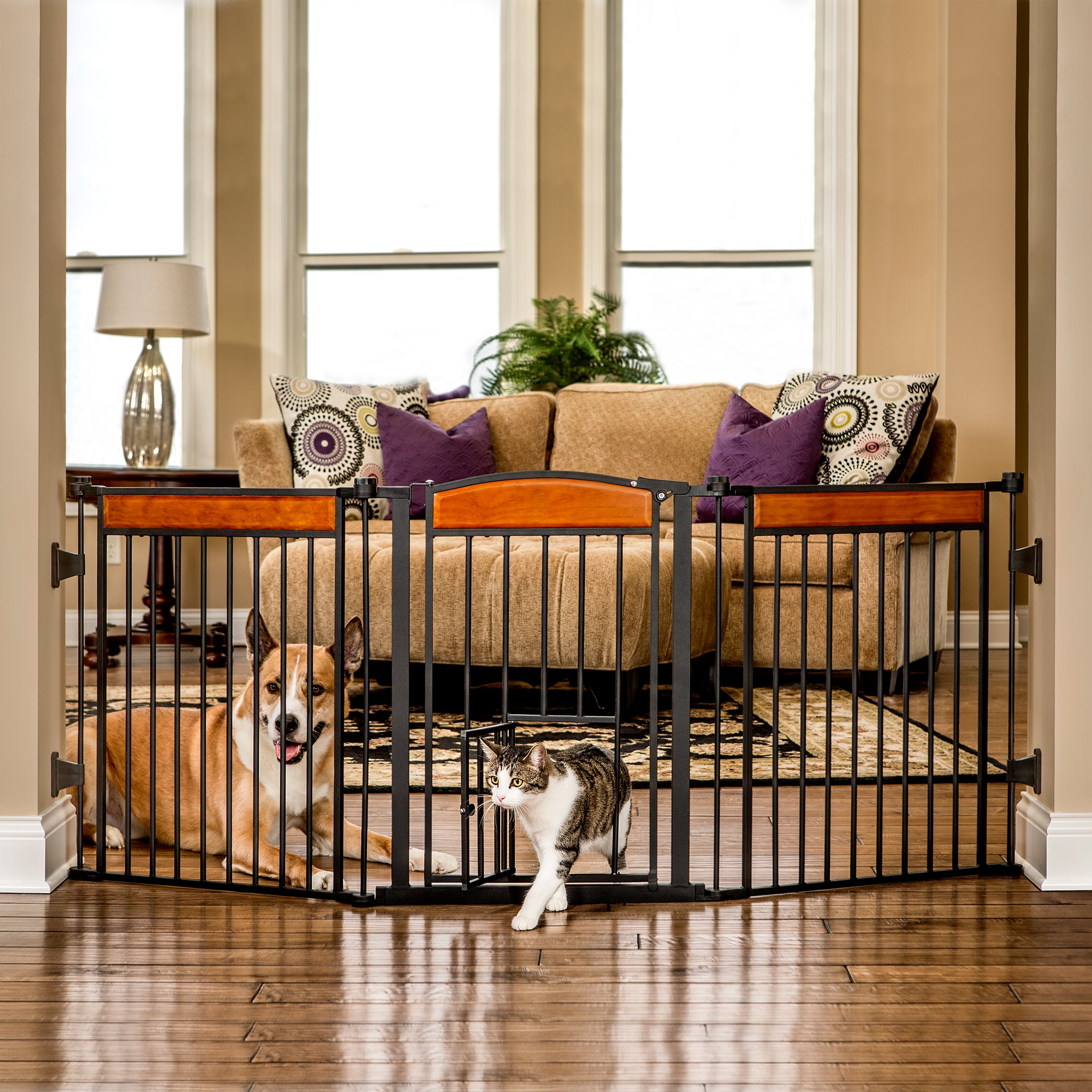 Carlson Design Paw Arched Flexi Pet Gate Petco