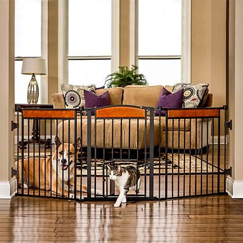 Carlson Design Paw Arched Flexi Pet Gate Petco
