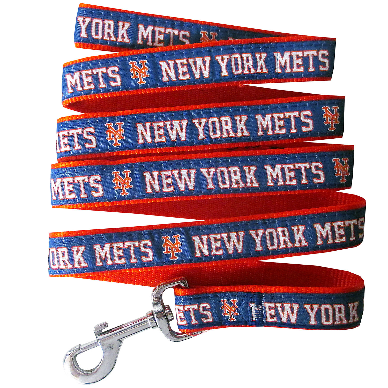 Pets First New York Mets Leash, Small, Blue / Orange