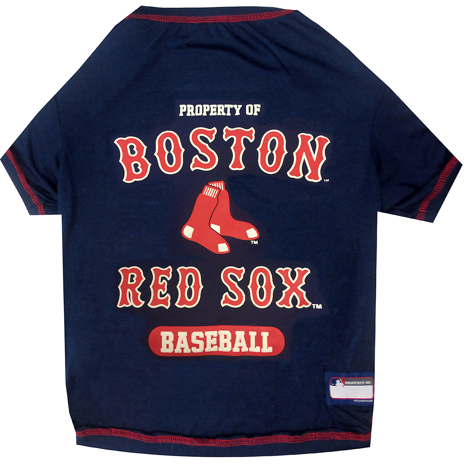 Pets First Boston Red Sox T-shirt, X-small, Blue
