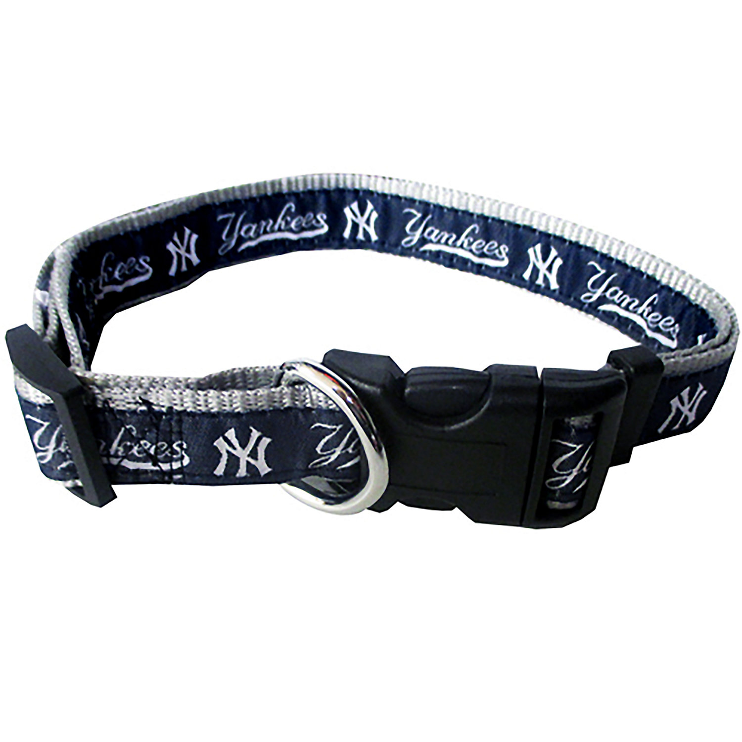 Pets First New York Yankees Collar, Large, Blue / White