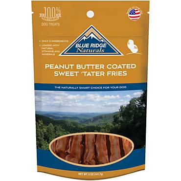 Blue Ridge Naturals Peanut Butter Coated Sweet Tater Fries Dog Treats