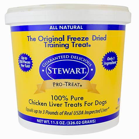 Stewart Pro-Treat Freeze Dried Chicken Liver Dog Treat