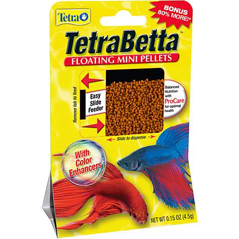 Tetra Betta Floating Mini Pellets, .15 OZ