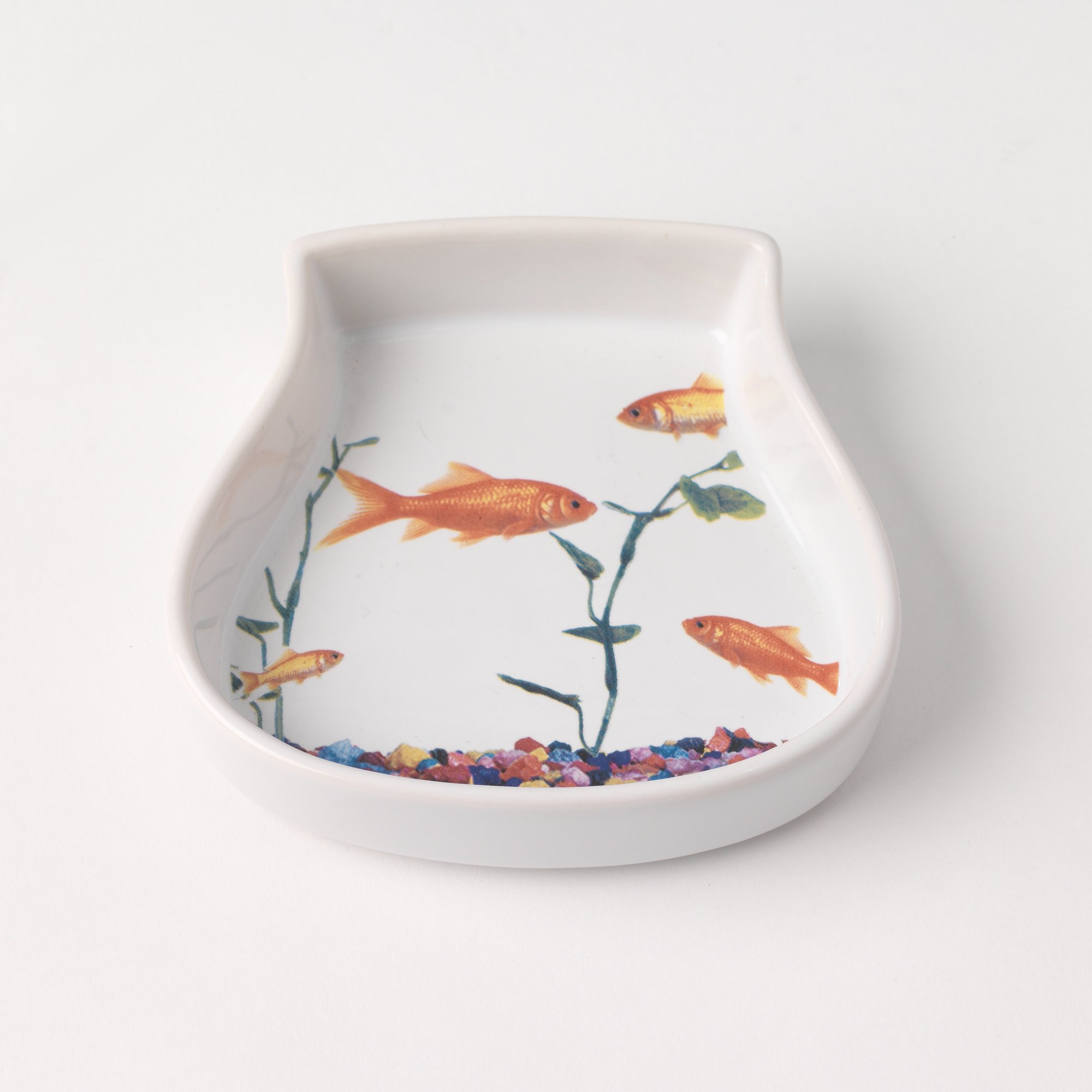 Petrageous Designs Fish Tank Saucer Cat Bowl
