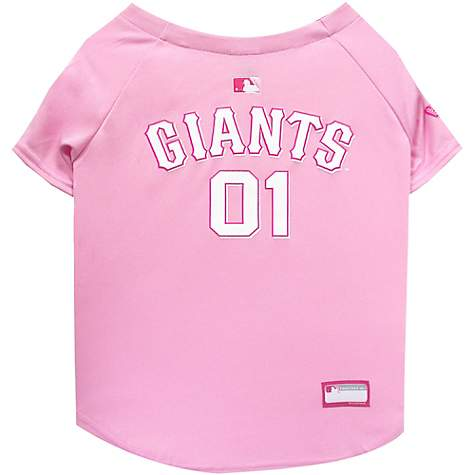 sale retailer 55dbb d3b6b Pets First Pink San Francisco Giants Jersey, X-Small