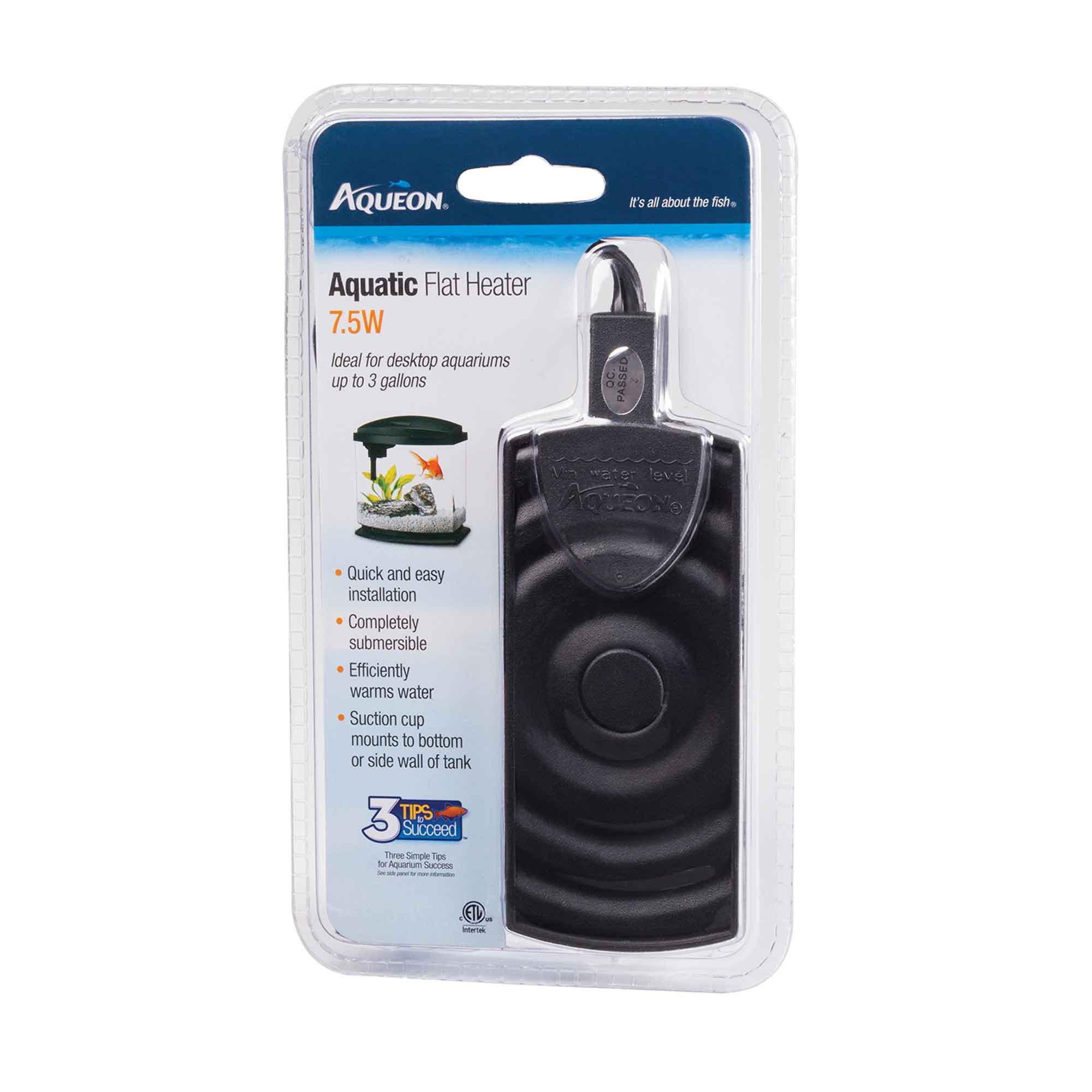 Fish aquarium heater - Aqueon Aquatic Flat Heater 7 5w