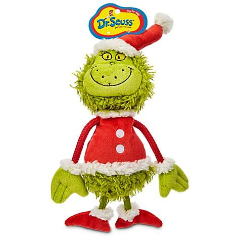Dr Seuss Grinch Flat Dog Toy Petco