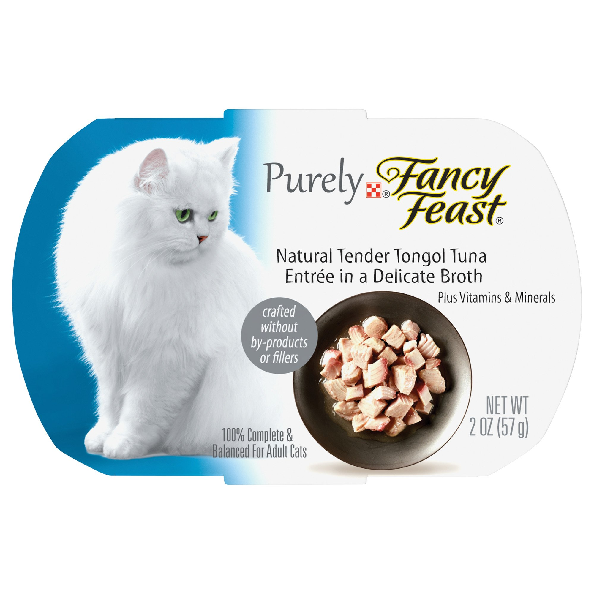 Fancy Feast Purely Tongol Tuna Adult Cat Food Trays