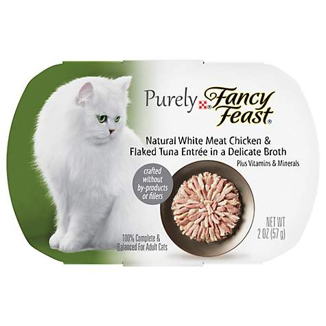 Fancy Feast Purely Chicken & Tuna Adult Cat Food Trays