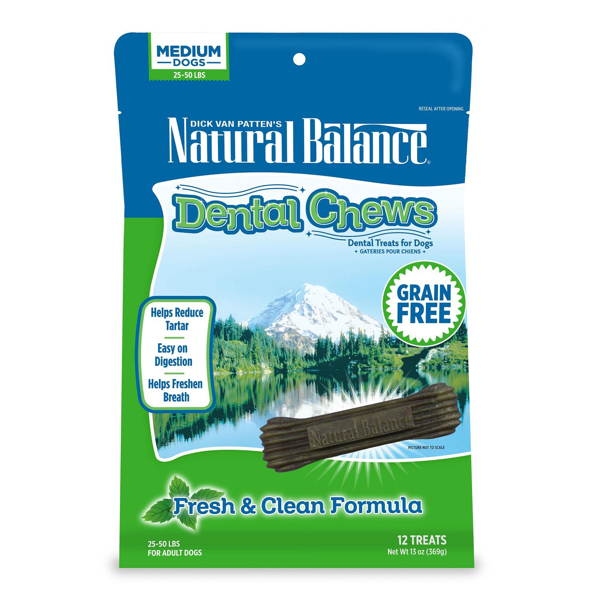 Natural Balance Fresh Amp Clean Medium Dog Dental Chews Petco