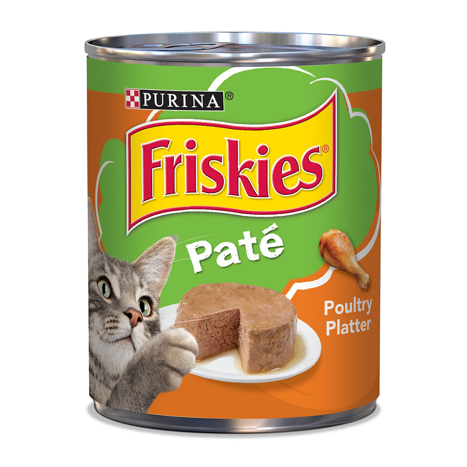 Friskies Poultry Platter Canned Cat Food 13 Oz. Case Of 12