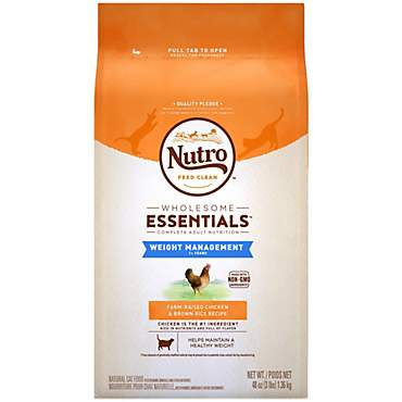 Nutro Wholesome Essentials Chicken & Brown Rice Weight Management Adult Dry Cat Food