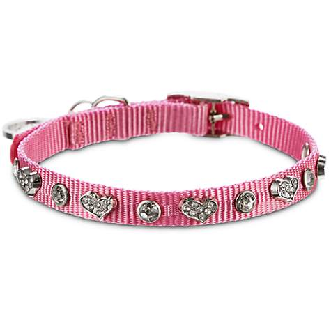 Bond & Co. Pink Heart Bling Collar