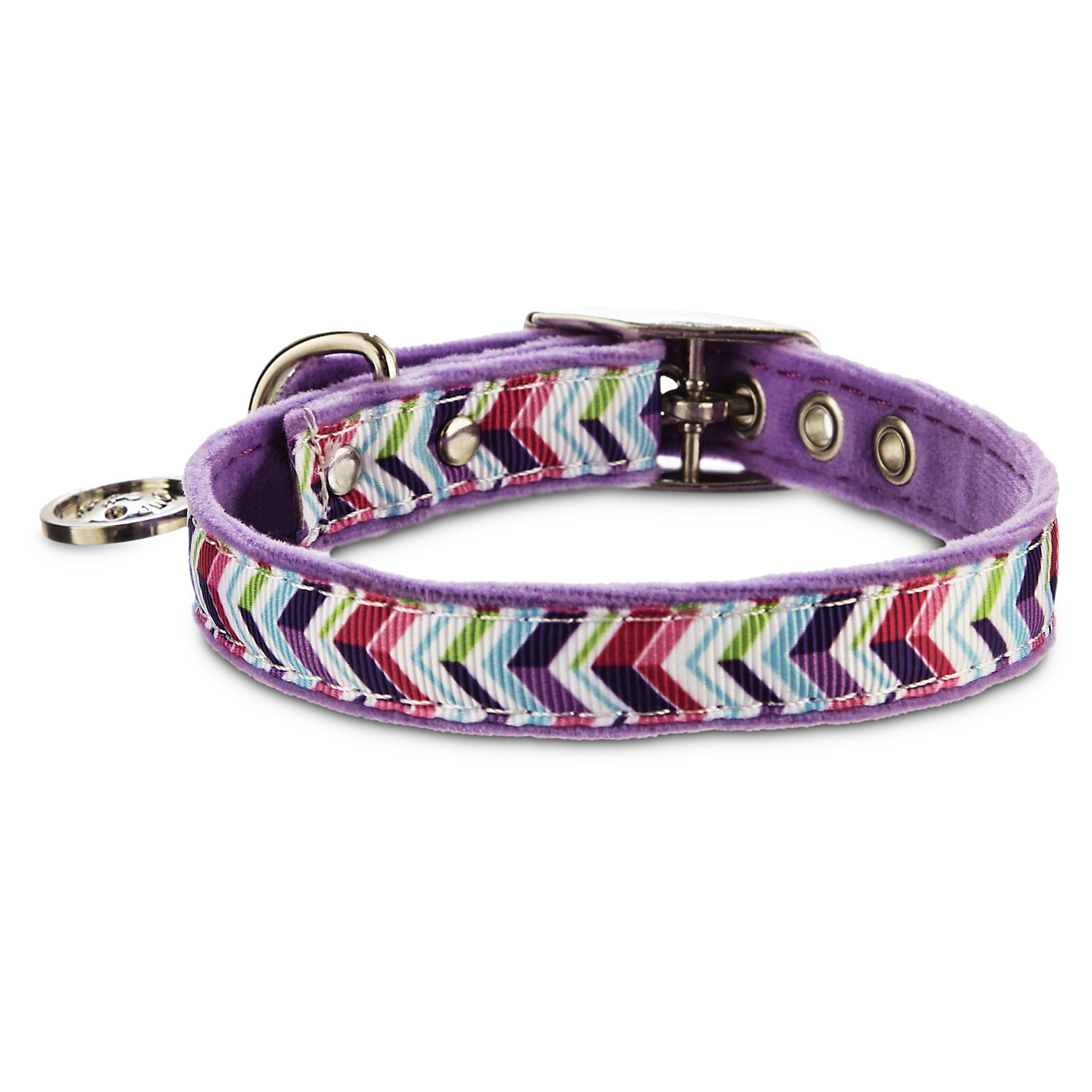 Bond & Co. Purple Zigzag Collar, For Necks 8-10, Xx-small