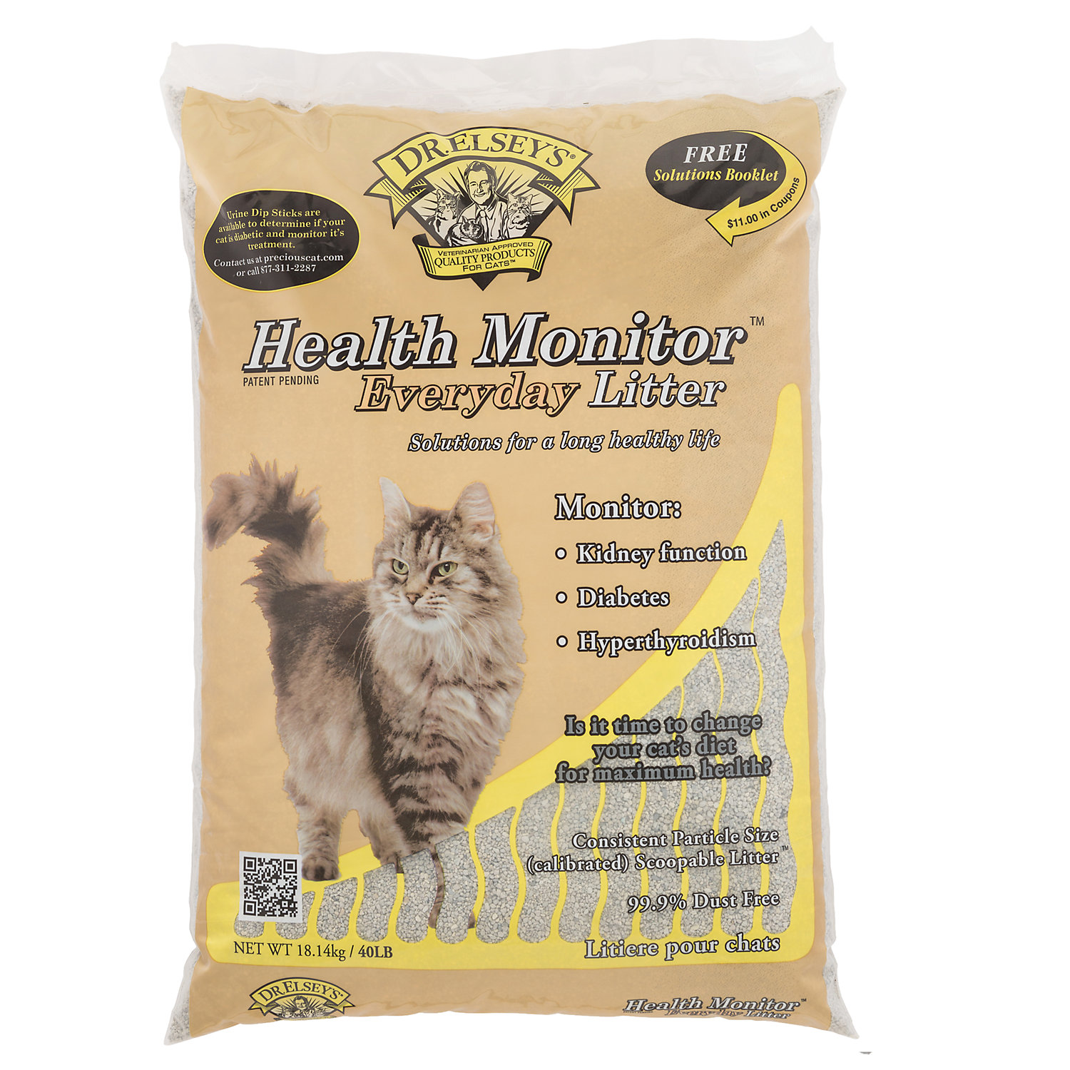 Precious Cat Dr. Elseys Health Monitor Everday Cat Litter 40 Lbs.