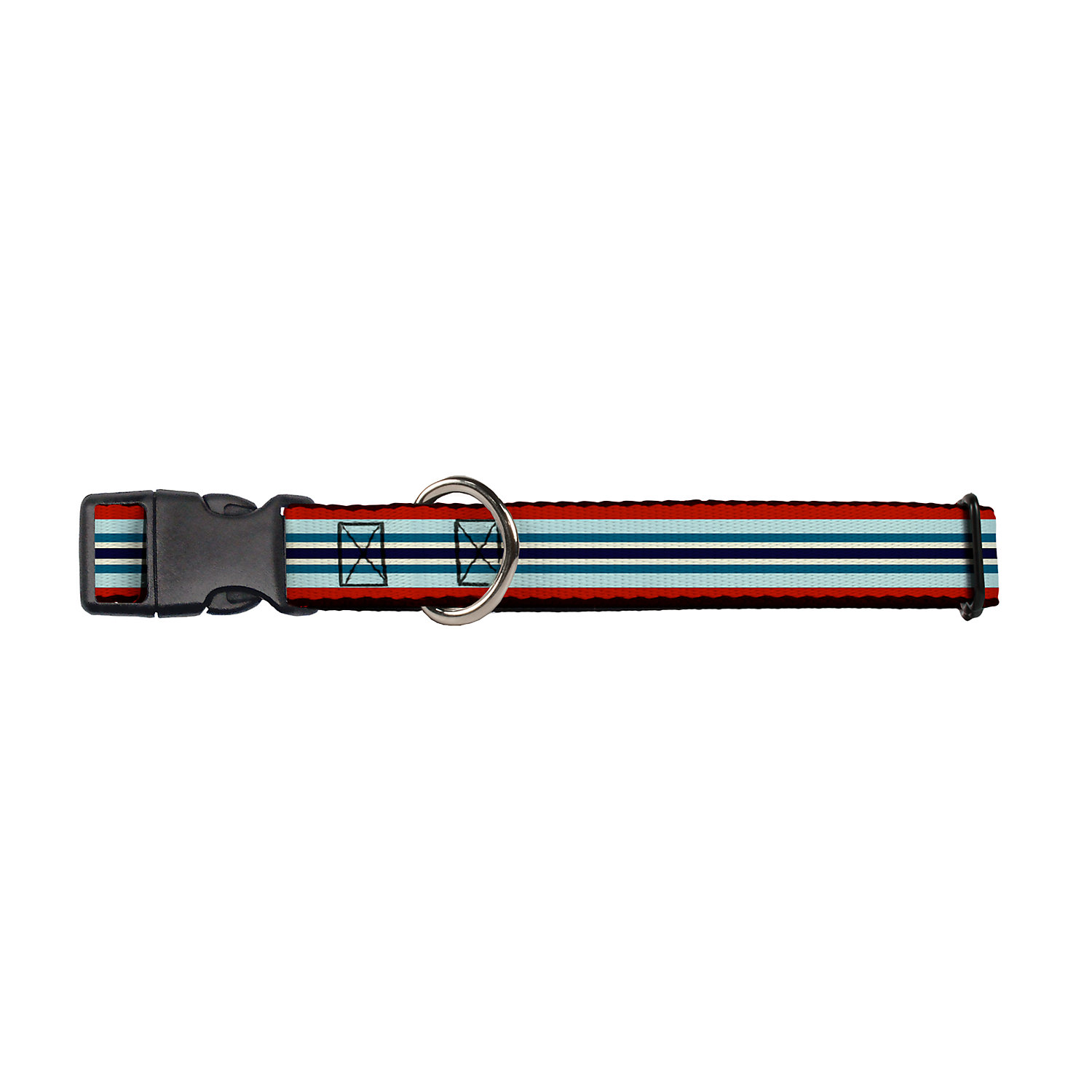 Buckledown Stripes Dog Collar