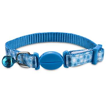 Bond & Co Blue Dot Print Kitten Collar