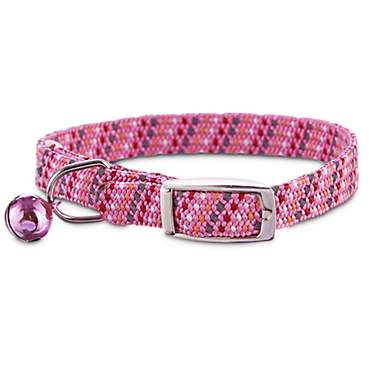 Bond & Co Pink & Gray Reflective Kitten Collar