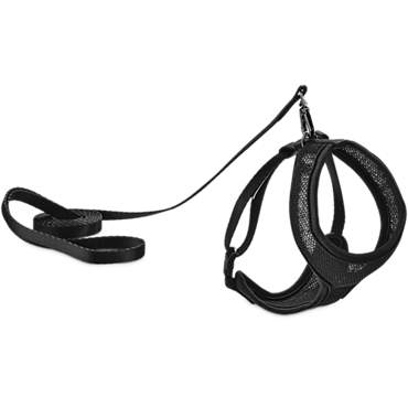 Good2Go Black Mesh Cat Harness & Lead Set