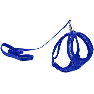 Good2Go Blue Mesh Cat Harness & Lead Set