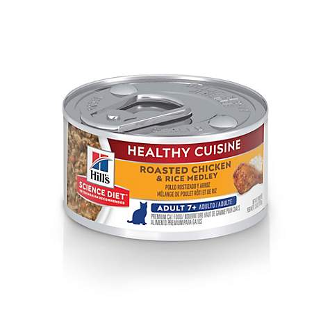 Hill's Science Diet Adult 7+ Healthy Cuisine Roasted Chicken & Rice Medley Cat Food