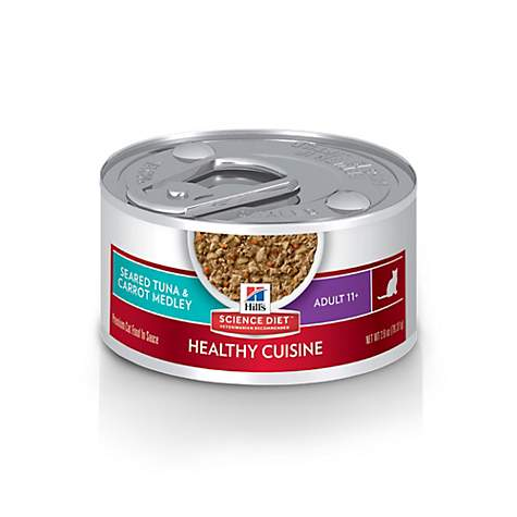 Hill's Science Diet Adult 11+ Healthy Cuisine Seared Tuna & Carrot Medley Canned Cat Food