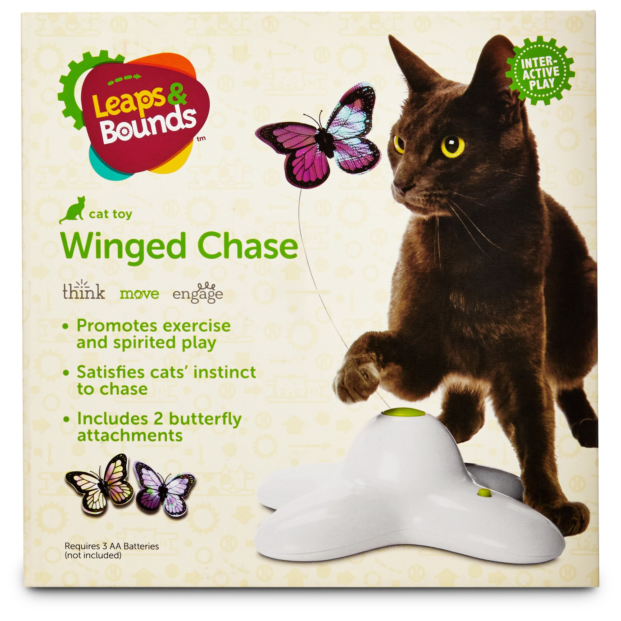 Leaps Amp Bounds Electric Flutter Butterfly Cat Toy Petco