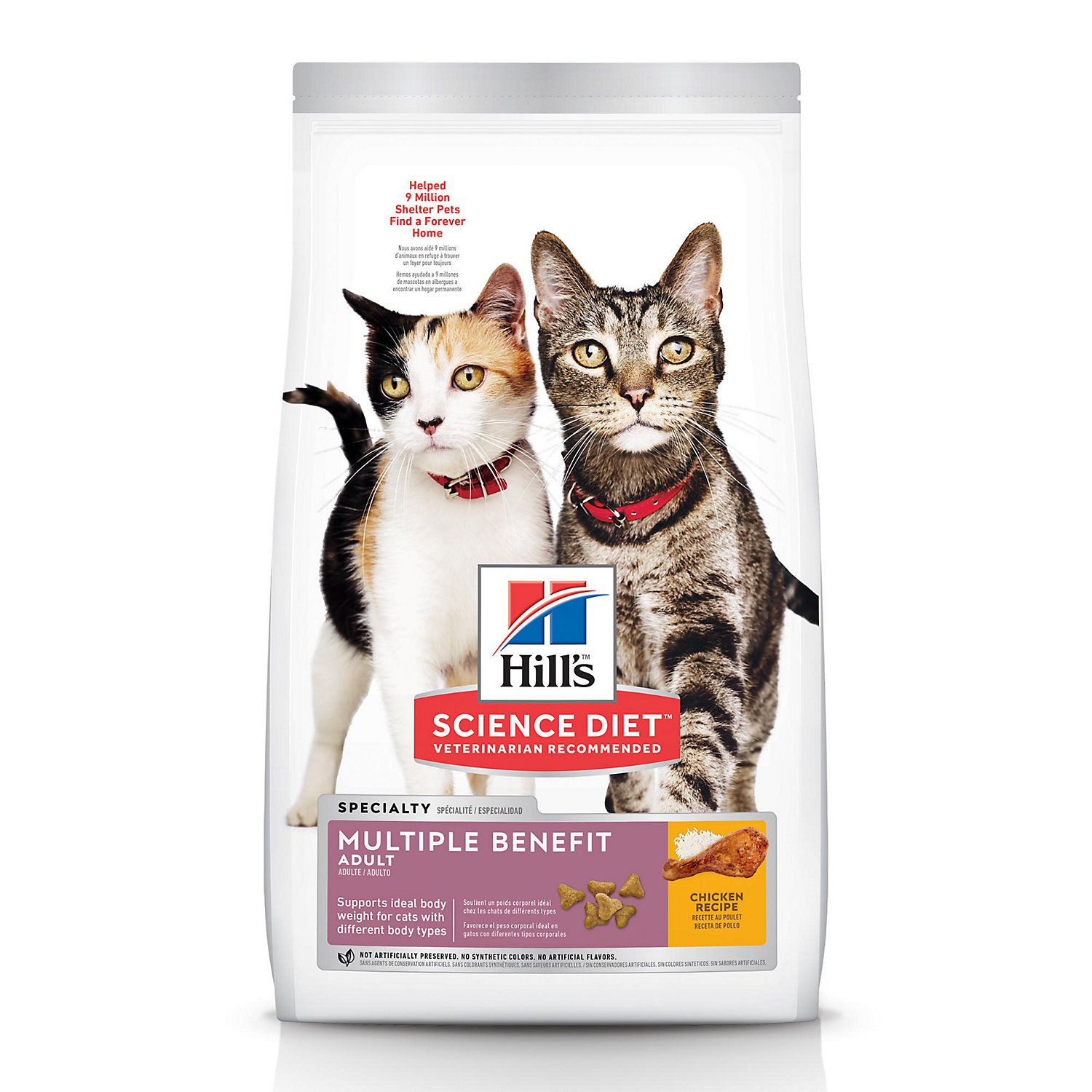 Hills Science Diet Adult Multiple Benefit Dry Cat Food 15.5 Lbs.