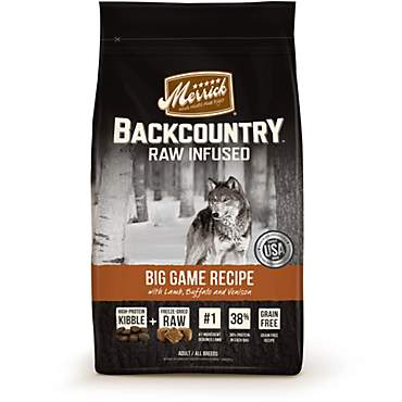 Merrick Backcountry Grain Free Raw Infused Big Game Dry Dog Food
