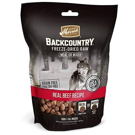 Merrick Backcountry Freeze Dried Raw Real Beef Recipe Meal