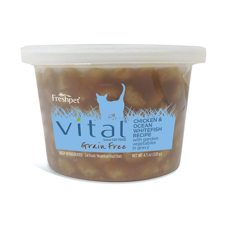 Freshpet Vital Chicken Ocean Whitefish With Garden Vegetables In Gravy Cat Cup 4.5 Oz.