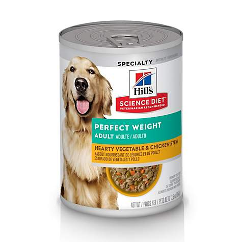 Hills Science Diet Adult Perfect Weight Hearty Vegetable & Chicken Stew Adult Canned Dog Food