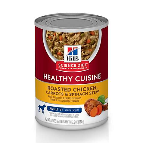 Hills Science Diet Adult 7+ Healthy Cuisine Roasted Chicken, Carrots & Spinach Stew Canned Dog Food