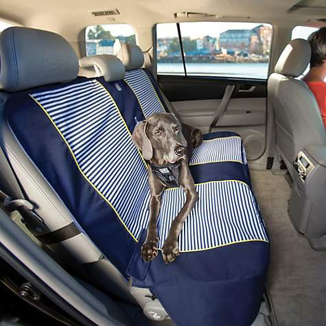 Kurgo Navy Stripe Bench Seat Cover Petco