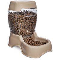 Harmony Cafe Gravity Feeder Khaki Dog Bowl