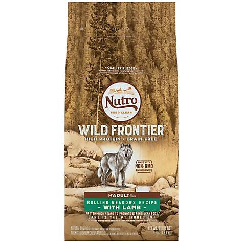 NUTRO WILD FRONTIER Rolling Meadows Recipe Grain Free Lamb Dry Adult Dog Food