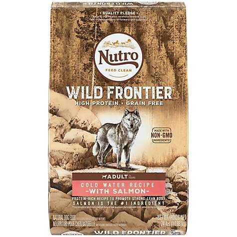 NUTRO WILD FRONTIER Cold Water Recipe Grain Free Salmon Dry Adult Dog Food